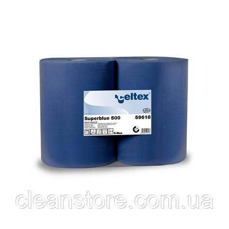 Протирочная бумага Celtex Superblue 500, 2 х 500 отр., фото 2