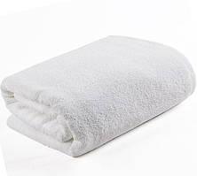 Полотенце махровое банное 70*140 см (500 гр/м², нить-20/2) белое