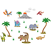 Виниловая Наклейка Glozis Dinosaurs
