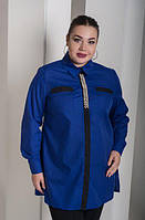 Женская рубашка украшенная бусинами, с 48-82 размер, фото 1