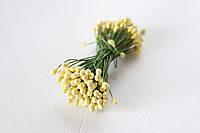 Тычинки двусторонние 20 шт (40 головок) светло-желтого цвета, фото 1