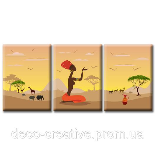Модульная Картина Glozis Savanna D-051 50 х 35 см х 3 Картины
