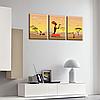 Модульная Картина Glozis Savanna D-051 50 х 35 см х 3 Картины , фото 2
