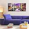 Модульная Картина Glozis Purple Dream D-054 50 х 35 см х 3 Картины , фото 2