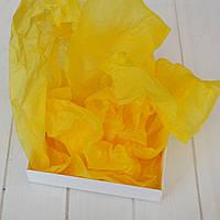Бумага тишью 3 листа (желтый) 75х50 см.