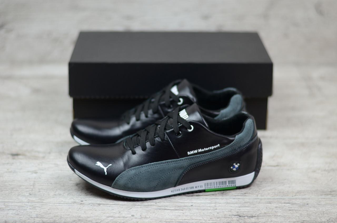 e5b5936ed9ab Мужские кожаные кроссовки Puma черные (реплика)  продажа, цена в ...