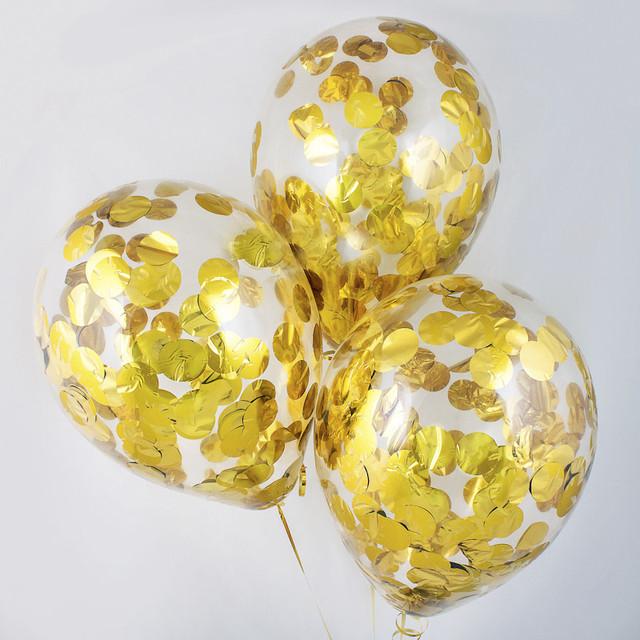 Конфетти кружочки золото