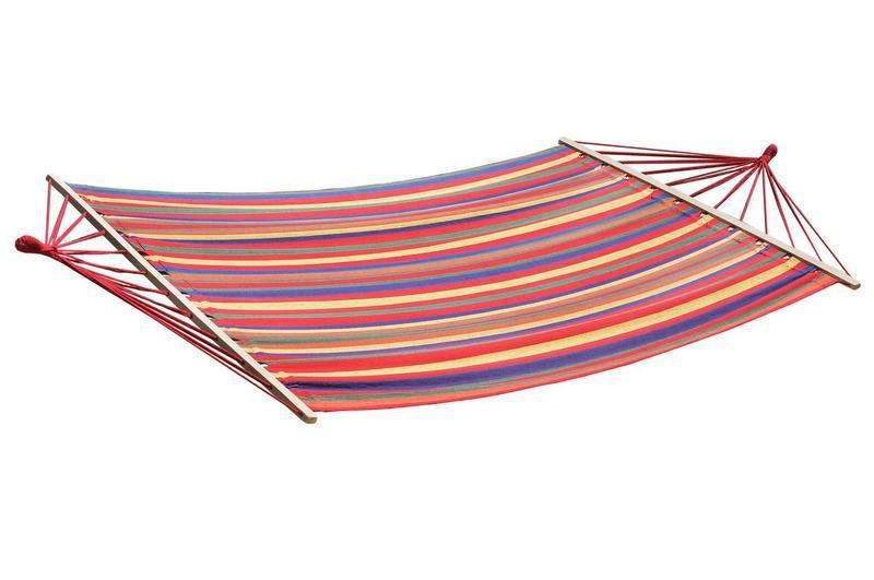 Двухместный цветной гамак с рейками XXL (220x160 см)