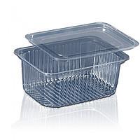 Блистерная одноразовая упаковка для салатов и полуфабрикатов ПС-160 (500 мл)  комплект