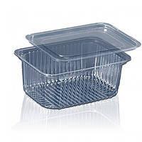 Блістерна одноразова упаковка для салатів і напівфабрикатів ПС-160 (500 мл) комплект