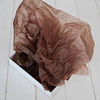 Бумага тишью 1 лист (шоколадный) 75х50 см.