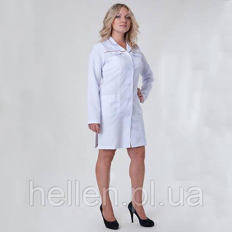 Жіночий медичний халат   габардин   білий   Health Life  продажа ... 992d5dc348777