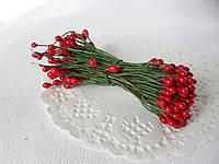 Тычинки двусторонние 20 шт (40 головок) красного цвета