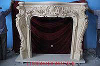 Резной мраморный портал камина