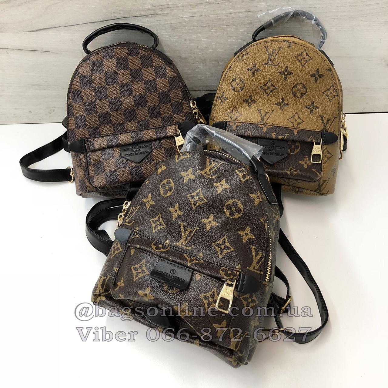 6a7e6de1c7c5 Мини портфель Louis Vuitton   рюкзак луи виттон   lv лв квадрат Коричневый  - BagsOnline -