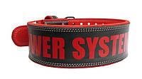 Пояс атлетический Power System BEAST PS-3830 L, Black-Red