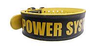 Пояс атлетический Power System BEAST PS-3830 M, Black-Yellow