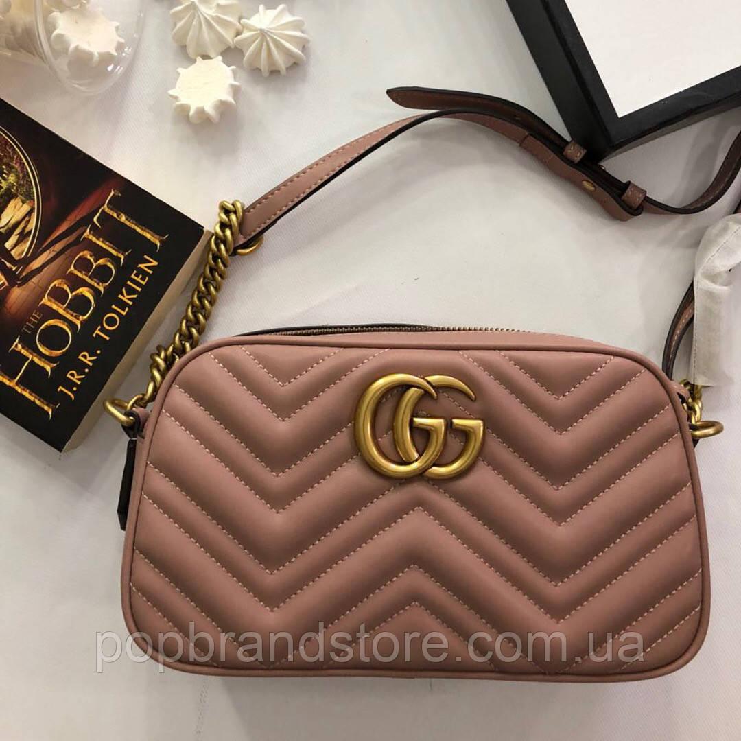 d58e8f1f66a4 Женская кожаная сумочка 'GG Marmont' от Gucci (реплика) - Pop Brand Store