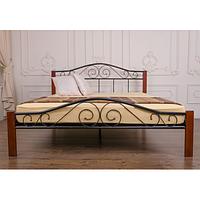 Металлическая кровать «Элис Люкс Вуд»