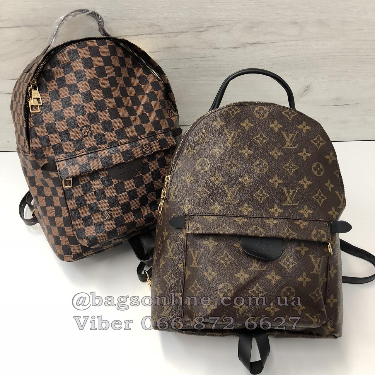 1d68b0061b49 Большой рюкзак Louis Vuitton | портфель луи виттон | lv лв квадрат  Коричневый - BagsOnline -