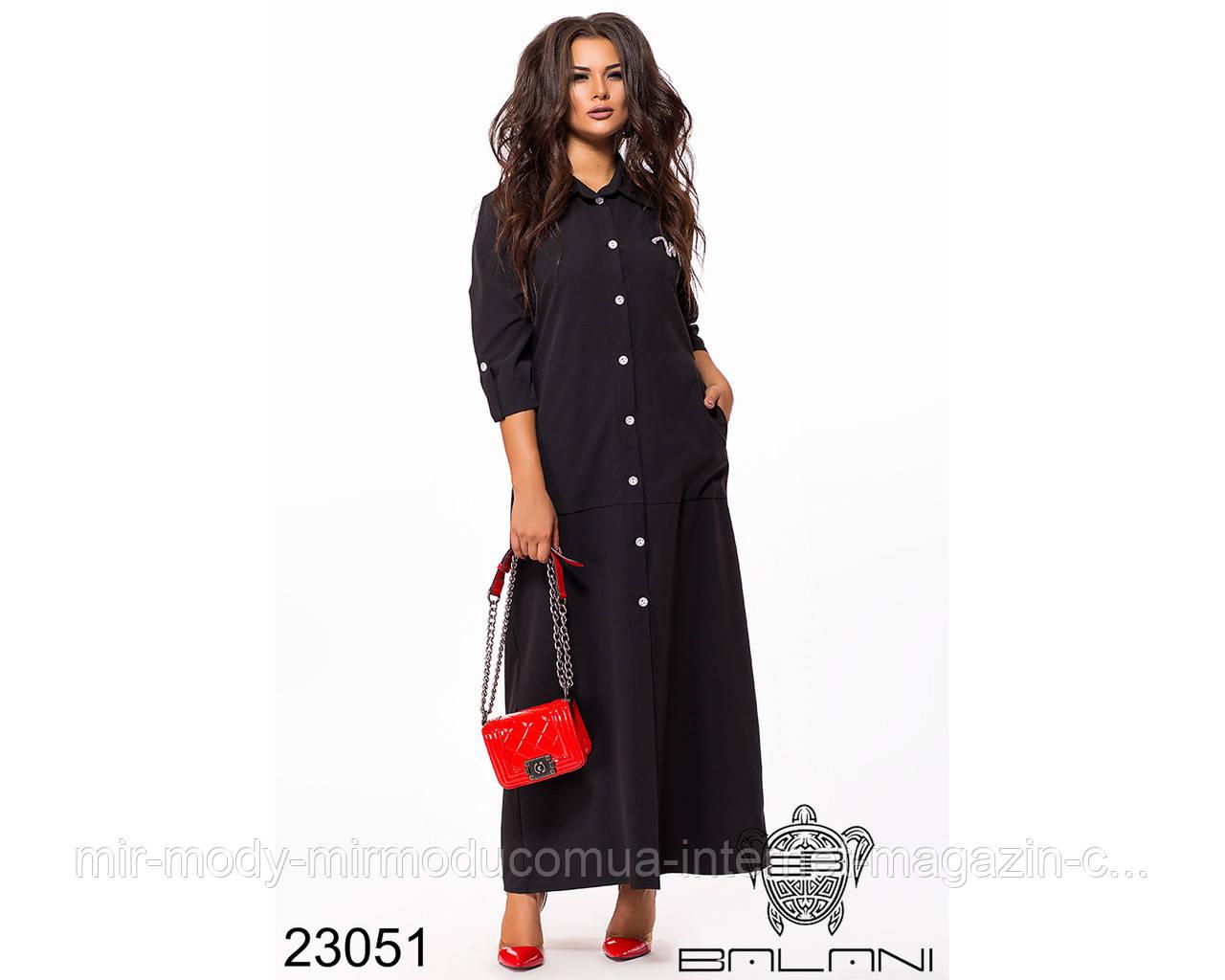 Платье с воротником в пол - 23051 с 48 по 54 размер(бн)