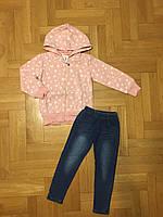 Трикотажный костюм-двойка для девочек оптом, F&D, 3/4-7/8 лет, арт. 3773, фото 2