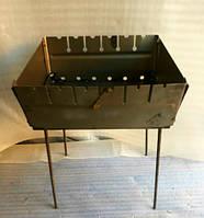 Мангал збірної, металевий на 6 шампурів. Дворівневий., фото 1