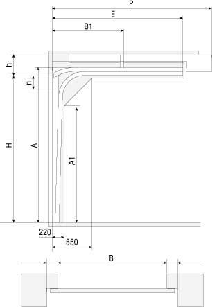 Низкий тип подъема для ворот Doorhan RSD01