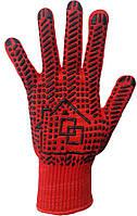 Перчатки рабочие с ПВХ покрытием красные, артикул 118