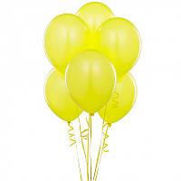Шар Воздушный Жёлтый Цвет 12 Латексные Шары Жёлтые Шарики Надувные Воздушные Летекс 004852, фото 1
