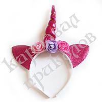 Ушки Единорога на ободке (розовые), фото 1