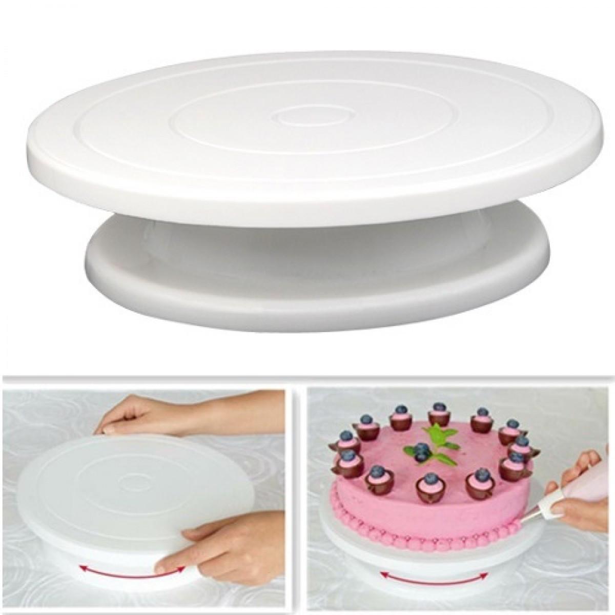 Подставка для торта с вращающейся платформой малая