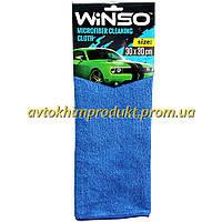WINSO Салфетка полировочная из микрофибры с ворсом синяя 30х30см