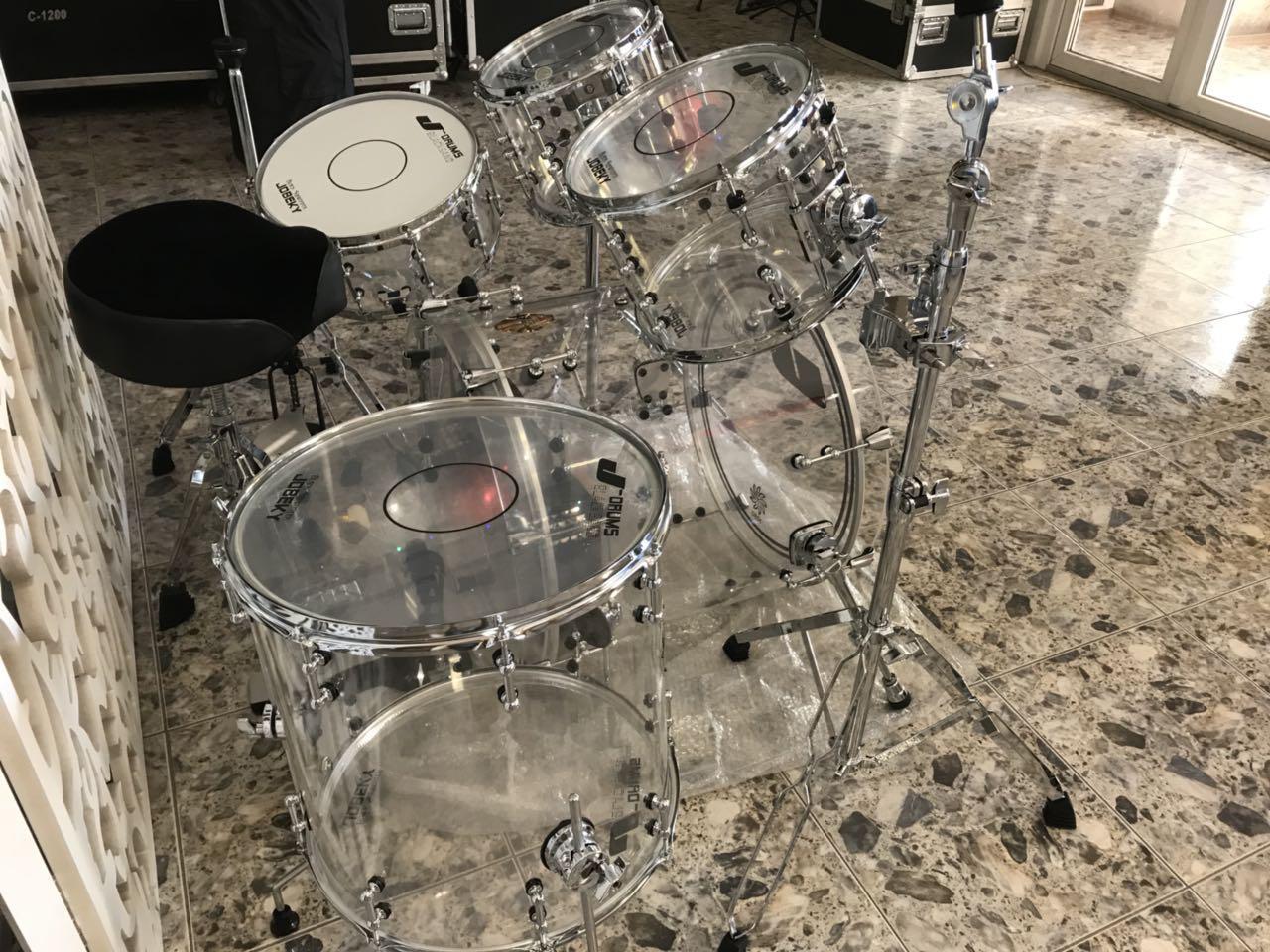 Аренда Акриловой прозрачной барабанной установки Jobeky Drums