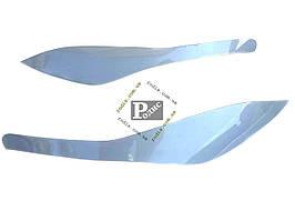 Реснички Lexus RX (2003-2010) (Spirit) (серебро) - Накладки на оптику декоративные Лексус РХ