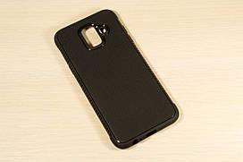 TPU чехол накладка Weave для Samsung Galaxy A6 2018 A600 (Черный)