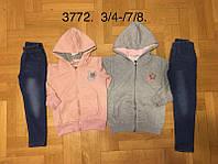 Трикотажный костюм 2 в 1 для девочек оптом, F&D, 3/4-7/8 лет,  № 3772, фото 1