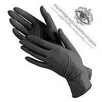 Перчатки нитриловые черные (без пудры) 100 шт