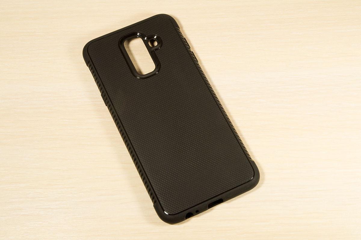 TPU чехол накладка Weave для Samsung Galaxy A6 Plus 2018 A605 (Черный)