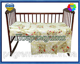 Постельное белье (Комплект из трех предметов) Мишки спят - Бежевый цвет