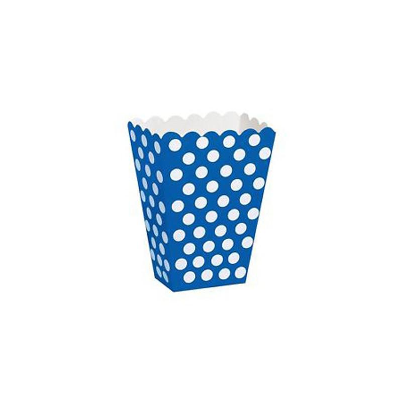 Коробка для сладостей в голубой горох