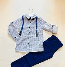 Детский Костюм для мальчика рубашка+брюки для мальчика 5-8 лет