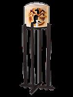 Подставка деревянная высокая тонированная