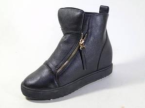 Ботинки женские черный цвет