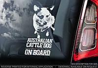 Австралийский Хилер (австралийская пастушья собака) (Australian CattleDog) стикер