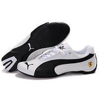 Мужские кроссовки Puma Ferrari Low White Black