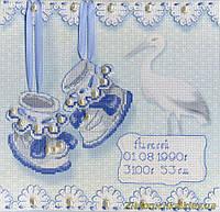 Набор для вышивания крестом МП Студия РК-314 Метрика пинетки (м)