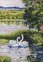 Набор для вышивания крестом МП Студия НВ-349 Лебеди на пруду