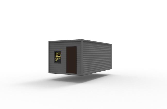 Технічний контейнер для мийки самообслуговування, WasherCar