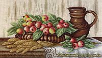 Набор для вышивания крестом МП Студия НВ-368 Натюрморт с райскими яблоками